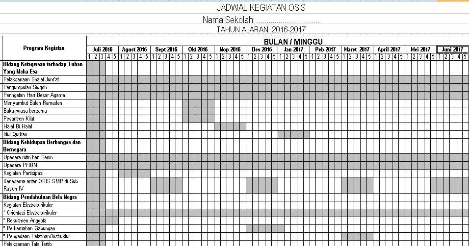 Download Contoh Program Kerja Tahunan Osis Tingkat Smp Dan Sma Tahun Ajaran 2016 2017 Format