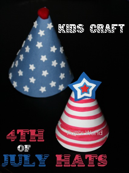 Kids Craft - 4th of July Hats