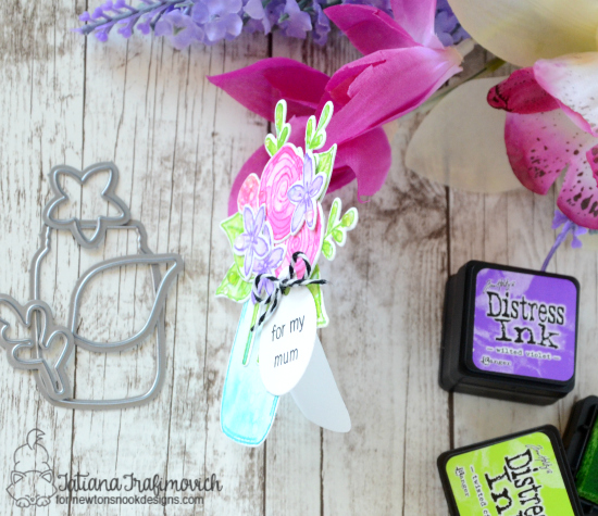 For My Mum Mini Card by Tatiana Trafimovich | Lovely Blooms Stamp set by Newton's Nook Designs #newtonsnook
