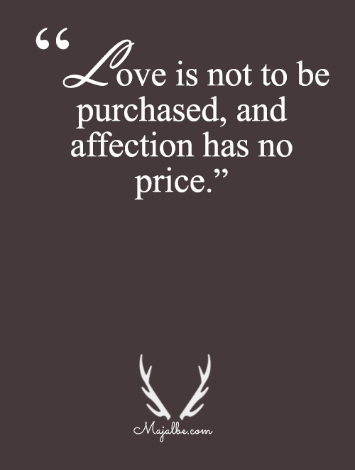 Love Is Not For Sale