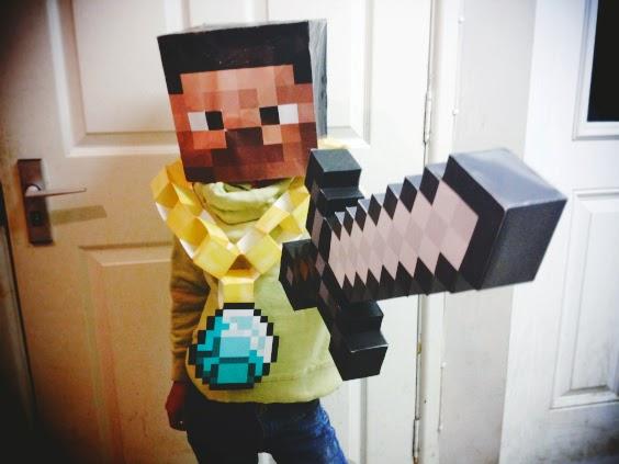 Printable Minecraft Masks Creative Daddy Bear