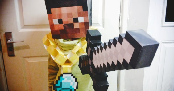 It is an image of Minecraft Mask Printable intended for realistic