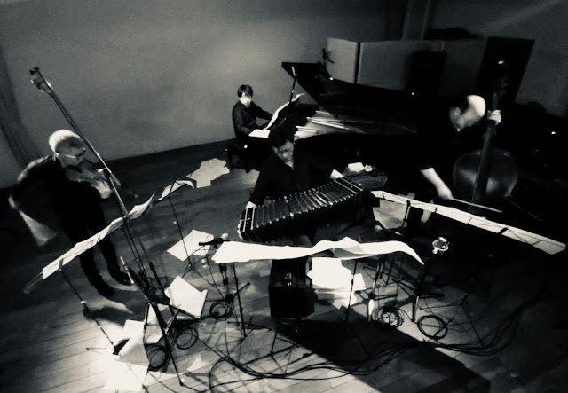 喜多直毅クアルテット: 喜多直毅(作曲とヴァイオリン)、北村聡(バンドネオン) 三枝伸太郎(ピアノ)、田辺和弘(コントラバス) 2020年8月21日@渋谷・公園通りクラシックスにて