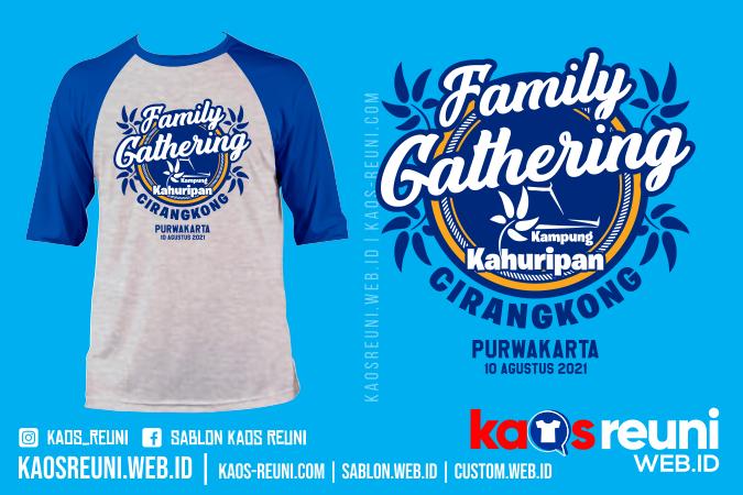 Desain Sablon Kaos Famget Family Gathering Kampung Kahuripan Cirangkong