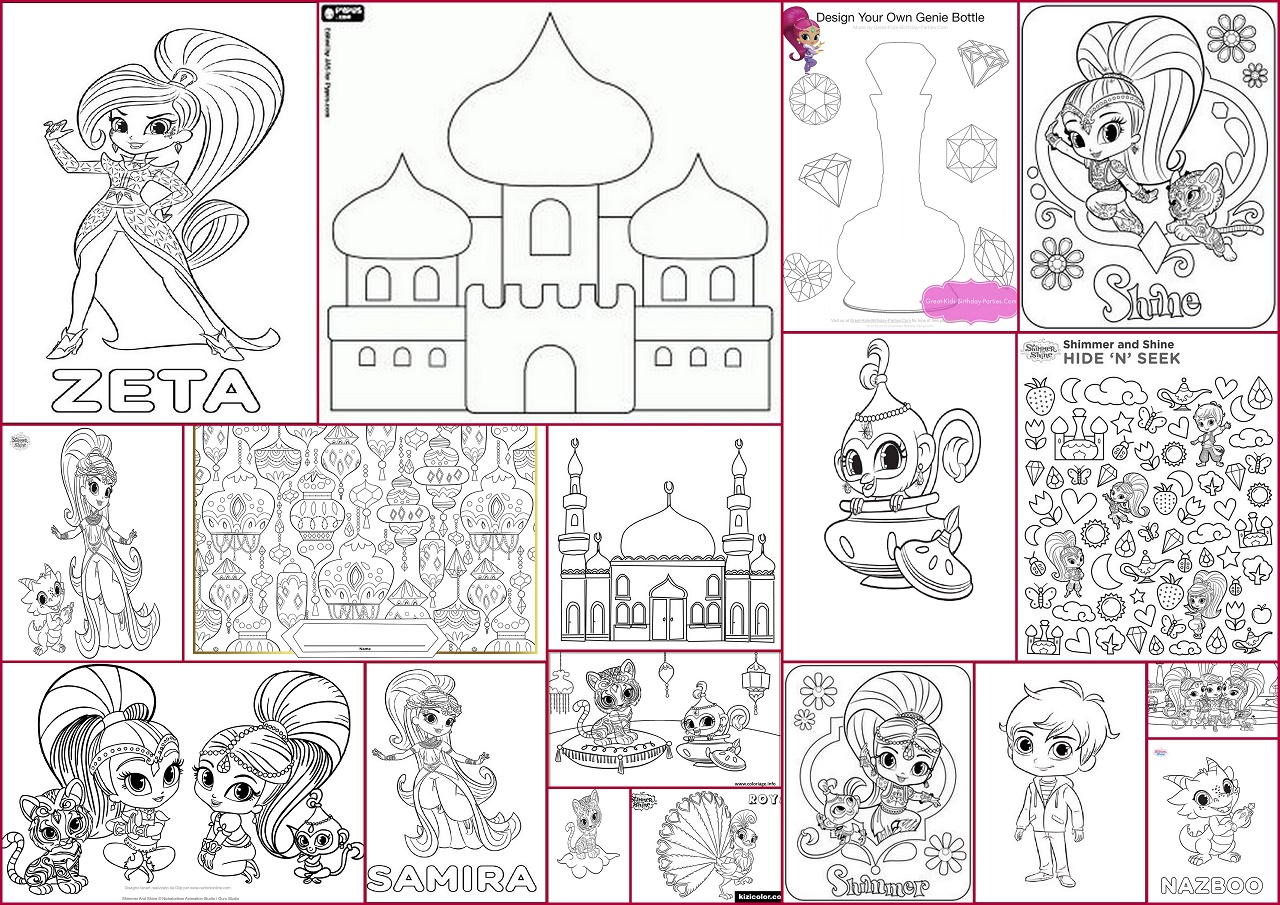 Shimmer And Shine Party Free Printable Coloring Pages Oh My Fiesta In English
