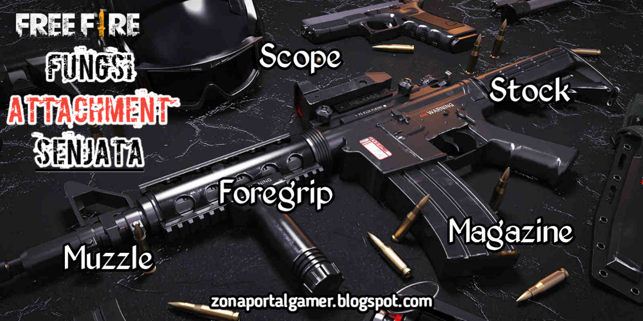 Attachments attached to images of M4A1 weapons and parts