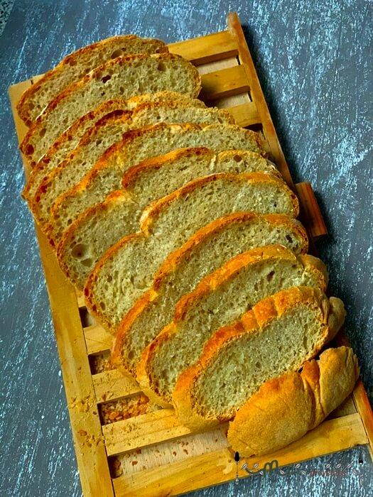 receta de pan en cazuela