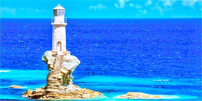 Informazioni sull'isola di Andros, Cicladi, Grecia
