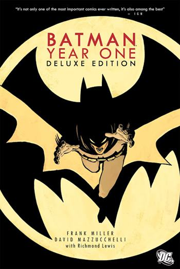 Batman Año Uno de Frank Miller relata el origen de Batman