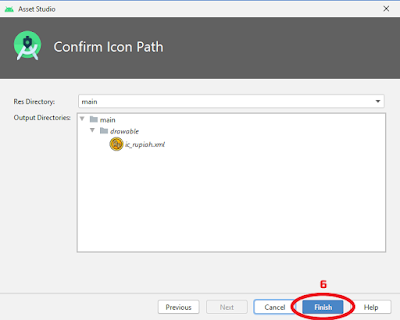 Panduan membuat Custom Vector Asset di Android Studio