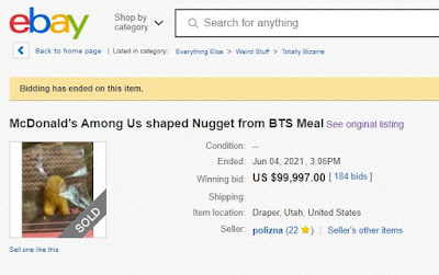Among Us - Shaped BTS Meal Nugget - E-Bay Auction