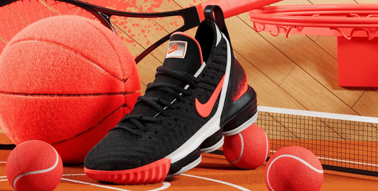 c5bd2820ec3 THE SNEAKER ADDICT: Nike Lebron 16 'Hot Lava' Black Sneaker (Images ...