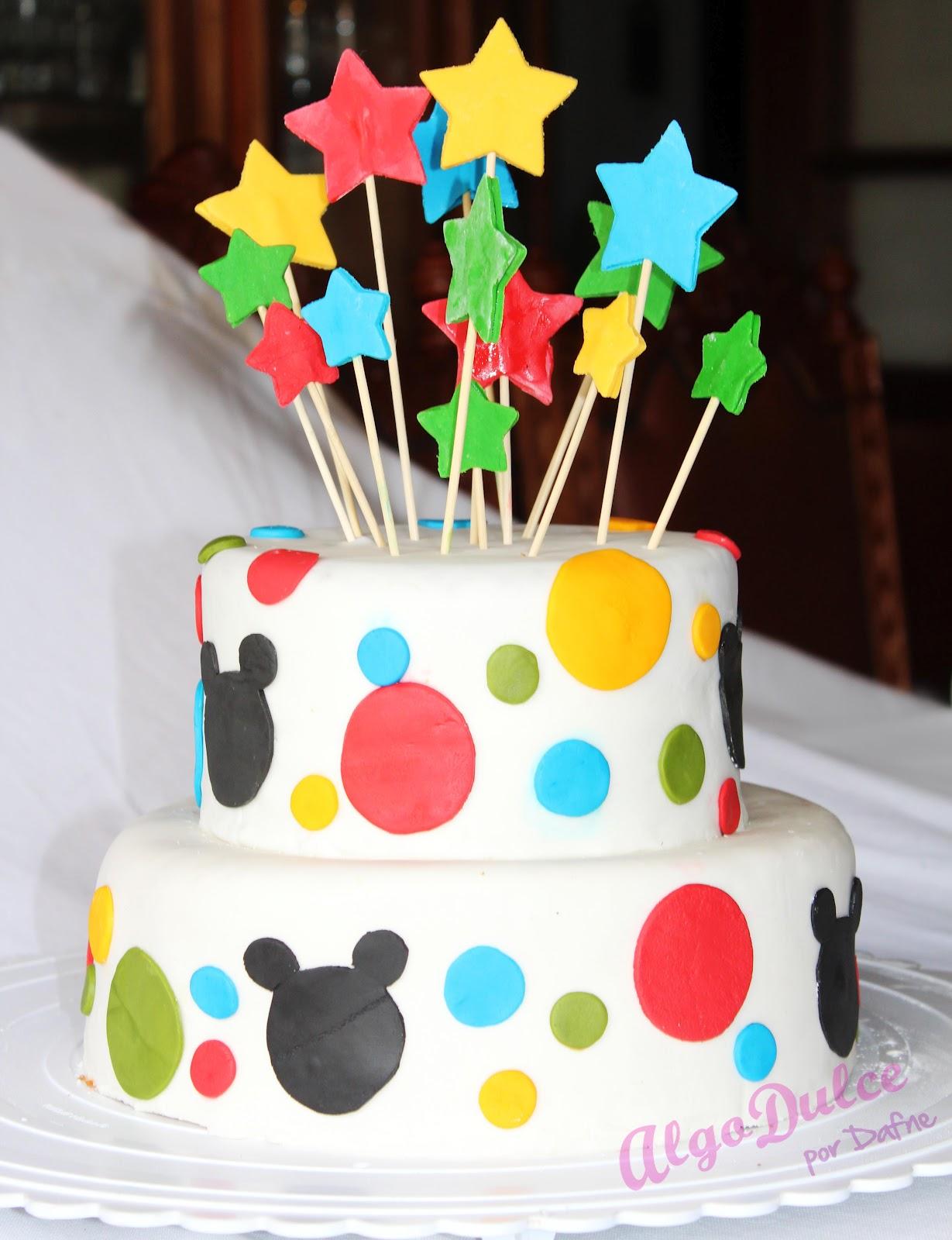 Algo Dulce Por Dafne Pasteles Con Mickey Mouse