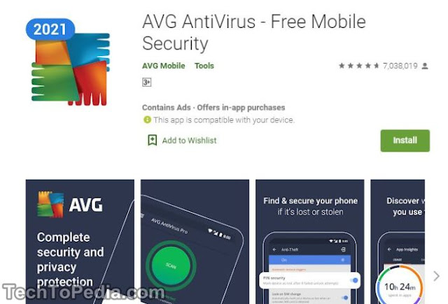AVG AntiVirus and Security for Android Free 2020