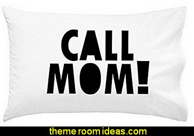 Call Mom Pillow Case BLACK Graduation Gifts for Dorm Room Bedding for Girls or Boys Pillowcase