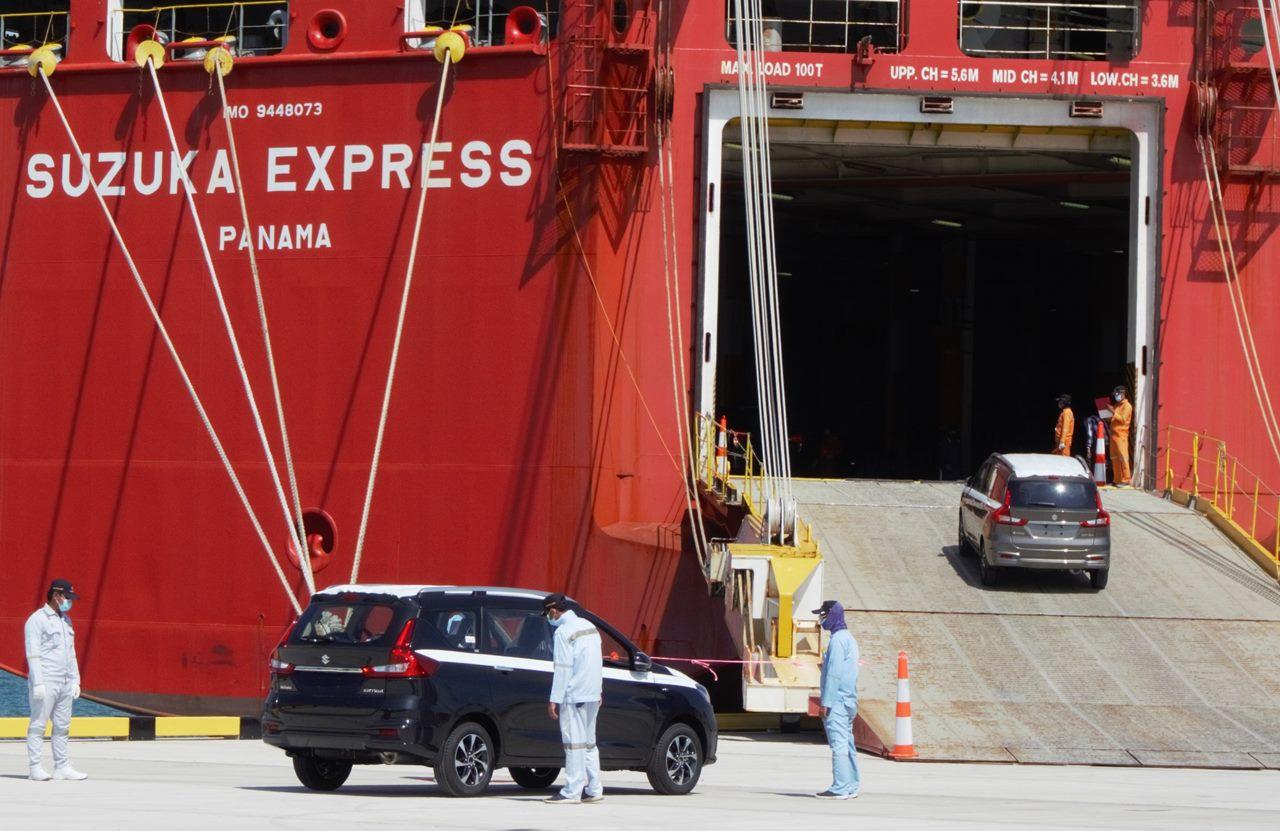 Pelabuhan Internasional Patimban Diresmikan, Suzuki Turut Serta Ekspor All New Ertiga