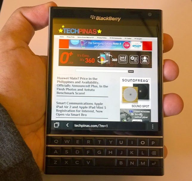 BlackBerry Passport Philippines Price Php 35,790, Full Specs