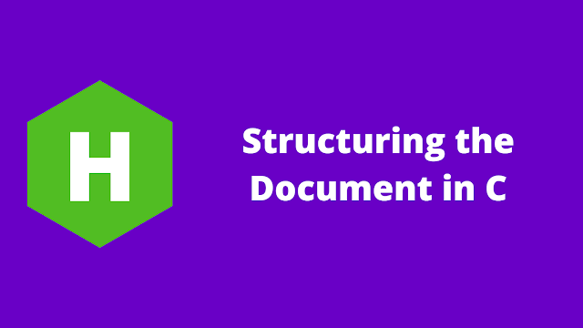 HackerRank Structuring the Document in c problem solution