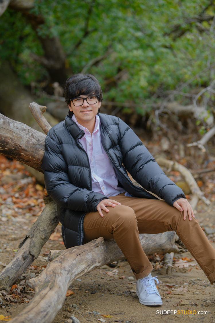 Senior Portrait for Guys Community School in Nature Fall Colors SudeepStudio.com Ann Arbor Senior Pictures Photographer