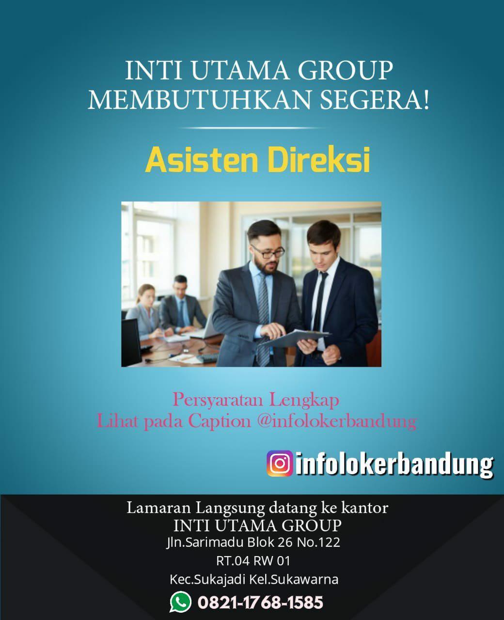 Lowongan Kerja Inti Utama Group Bandung Desember 2019