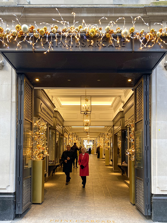 St James's Christmas London Princes Arcade