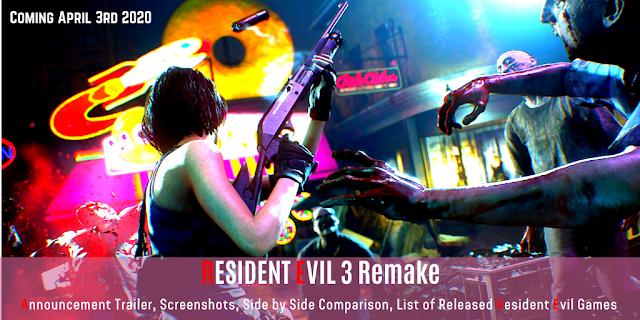 Resident Evil 3 Remake Trailer In 4k 2160p Will Release