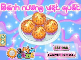 Game làm bánh nướng việt quất ngon