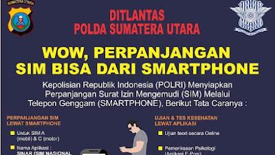 Dir Lantas Polda Sumut Ajak Masyarakat Urus SIM Lewat Smartphone