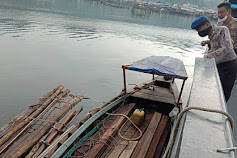 Melintasi Perairan Karang Sibongsu, Kapal Pengangkut Kayu Diamankan Polair Sibolga