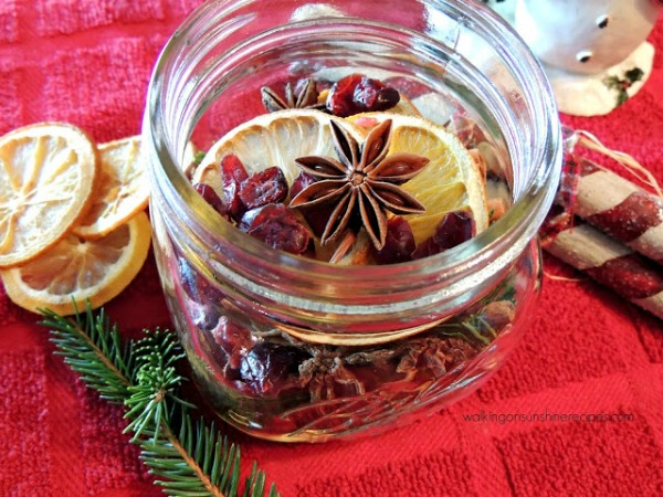 Your friends and family will love this gift idea of simmering potpourri for Christmas this year.  The jars make the perfect hostess gift too!