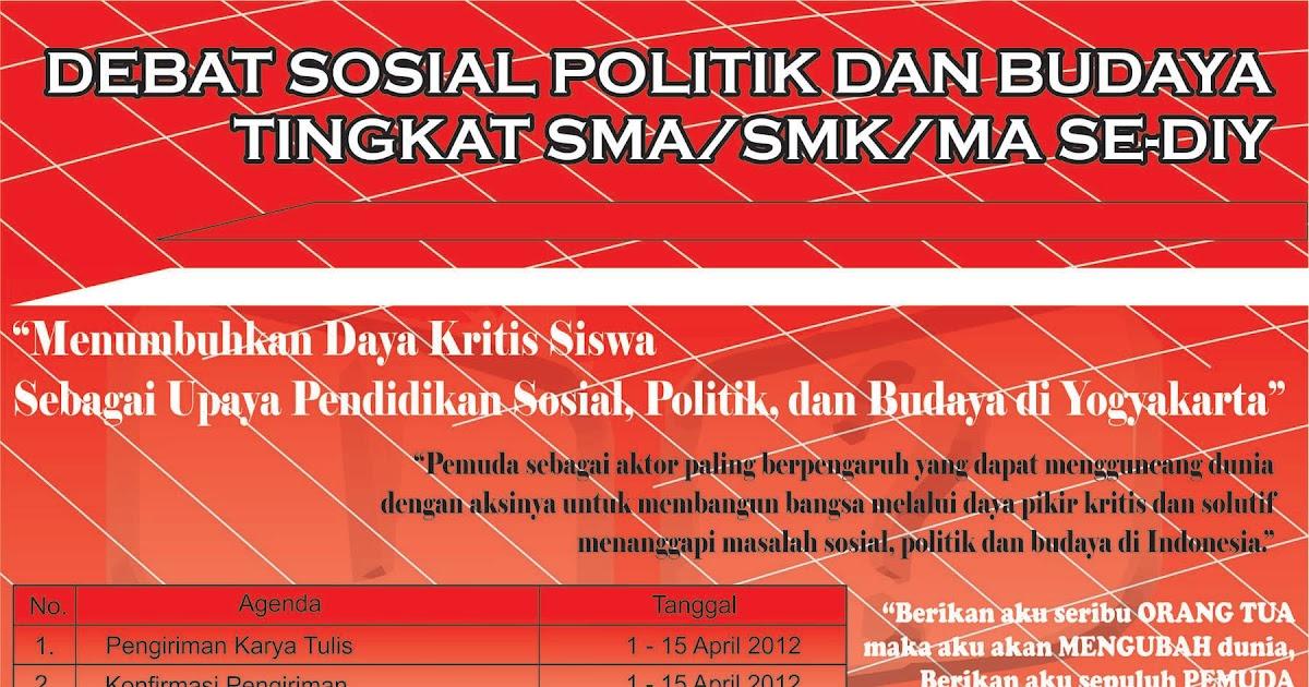 Lomba Debat Sosial Politik Dan Budaya Tingkat Sma Smk Ma Se Diy