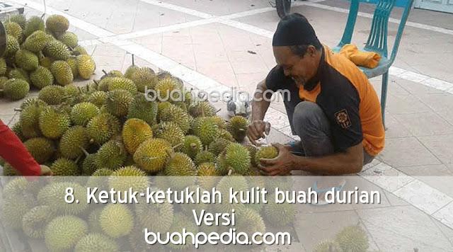 8. Ketuk-ketuklah kulit buah durian