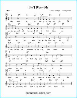 chord don't blame me lagu jazz standar