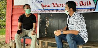 Kanit Sisbud Sat Intelkam Polres Luwu Utara Sosialisasi Pencegahan Covid-19