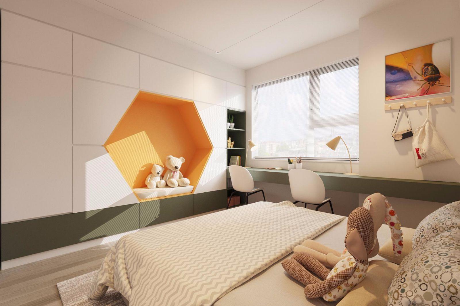Thiết kế nội thất căn hộ 54m2 (2PN+1WC) Toà L3 chung cư BRG Sài Đồng - Le Grand Jardin