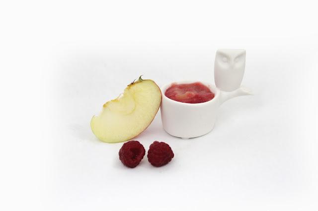 compote pomme/ framboise pour bébé allergique aux proteines de lait de vache