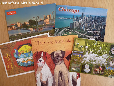 Postcards received via Postcrossing