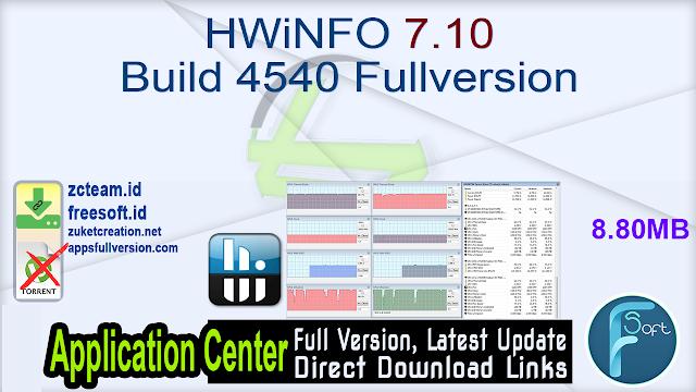 HWiNFO 7.10 Build 4540 Fullversion