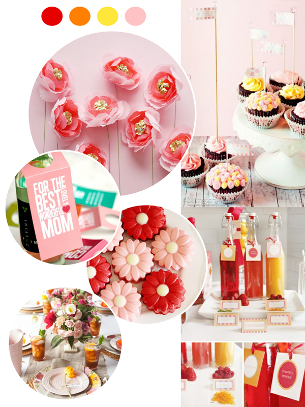 Last Minute Mother's Day Party, Crafts and Gift Ideas - via BirdsParty.com