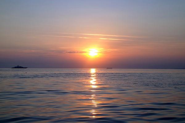 trieste molo audace coucher soleil sunset