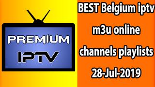 BEST Belgium iptv m3u online channels playlists 28-Jul-2019