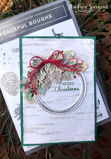 Garden Green Peaceful Boughs Stampin Up cards, Andrea Sargent, Valley Inspirations, Independent Stampin' Up! Demonstrator, Adelaide, South Australia