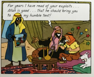 Tintin the celebrity in Cigars of the Pharaohs