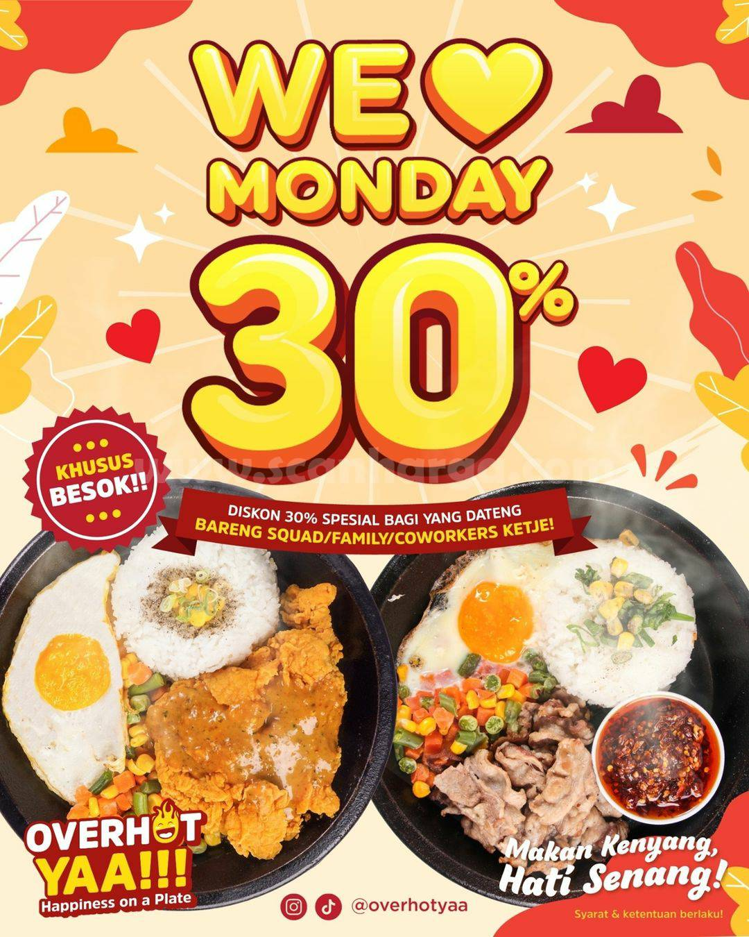 Promo Overhot Yaa Diskon 30% We Love Monday 14 Desember 2020
