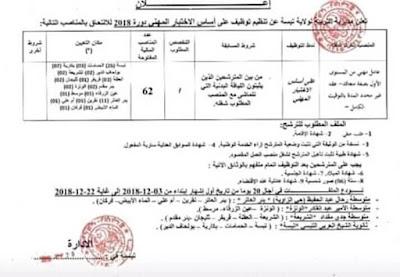 إعلان مسابقة توظيف بمديرية التربية ولاية تبسة - 216 منصب دسيمبر 2018