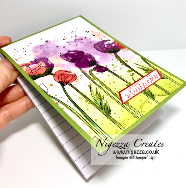 Nigezza Creates with Stampin' Up! and Peaceful Poppies to creates a Covered Note Pad