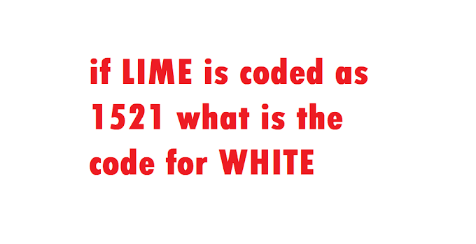 if LIME is coded as 1521 what is the code for WHITE