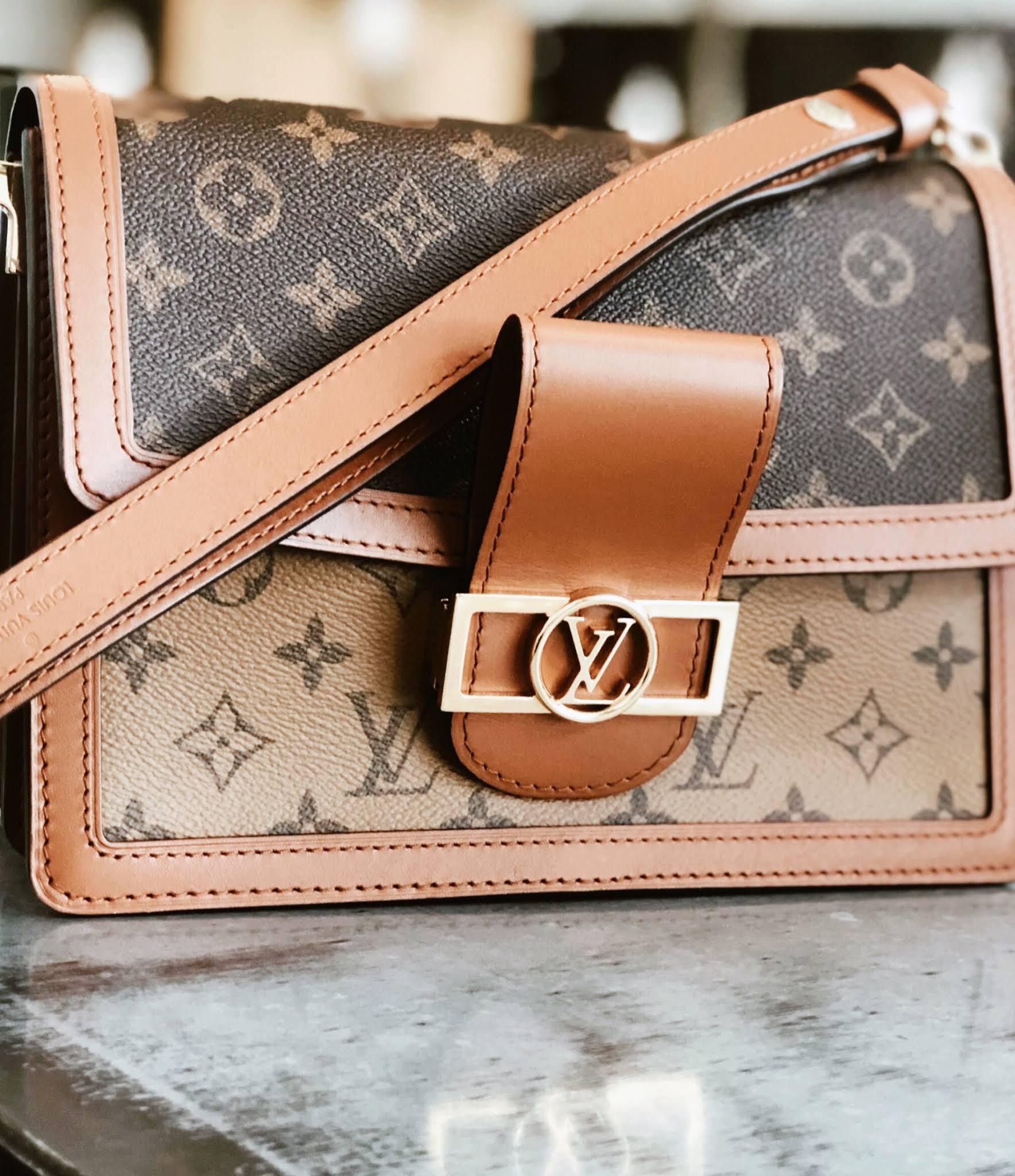 Louis Vuitton Dauphine MM handbag reverse print