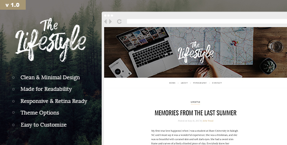 The Lifestyle - Elegant and Simple WordPress Blog Theme
