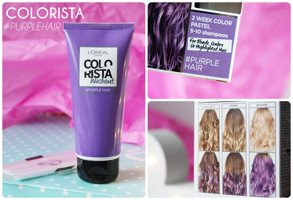 zmywalna fioletowa farba do włosów